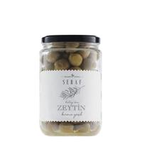 Seraf - Kırma Gemlik Yeşil Zeytin, 500 gr