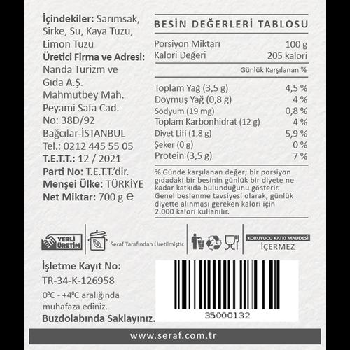 Tane Sarımsak Turşusu,700 gr